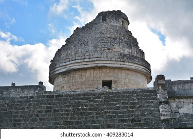 Observatory El Caracol. Mayan archeological site of Chichen Itza, Yucatan, Mexico.