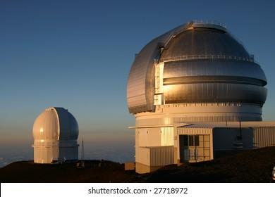 Observatory on Mauna Kea Hawaii