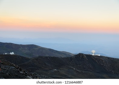 observatory in the sierra nevada mountains, andalusia, spain