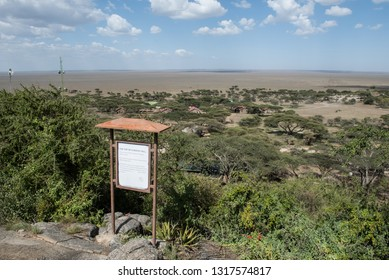 """Observing view point """"On the top of a rocky hill"""" in Serengeti National Park"""