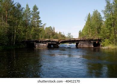 Obsolete bridge over the river