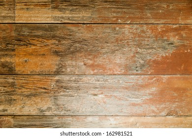 Obsolete old wood plank. Eco wooden background, green organic wooden floor good for feet