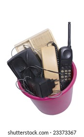 Obsolete wired phones in recycle bin