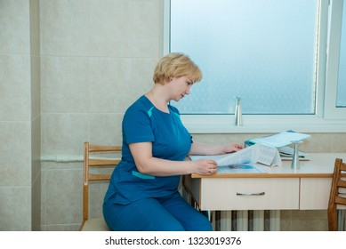 obstetrician-gynecologist at work