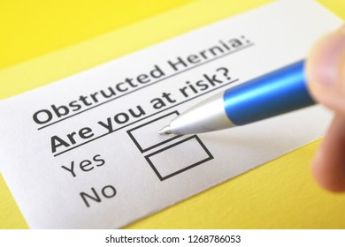 Obstructed hernia: are you at risk? yes or no