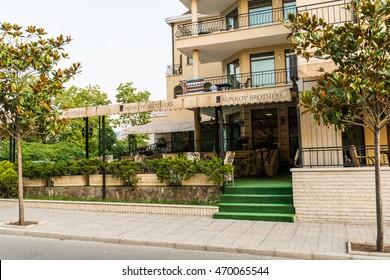 OBZOR, BULGARIA - AUG 01, 2016: The hotel Dukov near the beach.