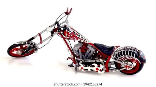 OCC Toy replica of Spider-Bike chopper