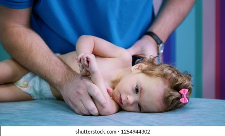 An occupation with baby with cerebral palsy. Physiotherapy