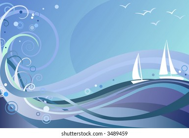 Ocean Background (also available in vector)