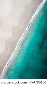 Ocean Beach drone photo in summer