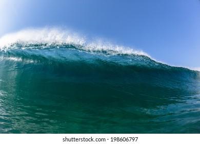 Ocean Blue Waves Swim Water Ocean sea blue waves swim closeup vertical crashing hollow tubing water power on shallow beach reefs sandbars