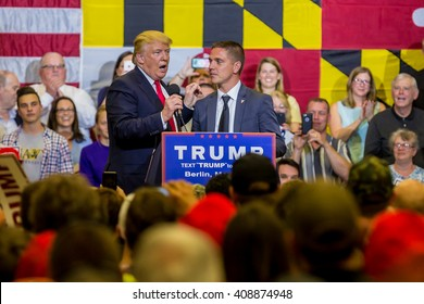 OCEAN CITY - APRIL 20: Republican presidential candidate Donald Trump speaks at rally in Ocean City, MD on April 4, 2016