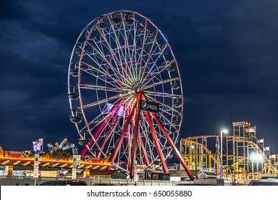 Ocean City, Maryland - May 27, 2017: Playground night view