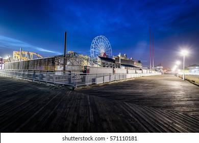 Ocean City, Maryland Pier during a Warm Fall Night