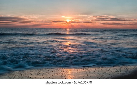 Ocean City Maryland sunrise over the Atlantic Ocean