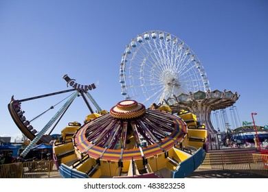 Ocean City, New Jersey, USA - August 4, 2016: Tourist enjoying a summer day on Gillian's Wonderland Pier on the world famous boardwalk in Ocean City, New Jersey on August 4, 2016