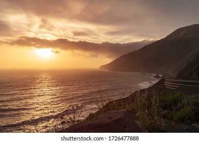 Ocean Cliffs Bluffs During Sunset - Sunrise, Golden hour.