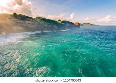 ocean coast cliff, incredible view, beautiful Indian Ocean landscape