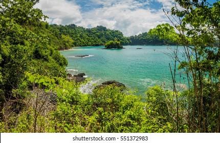 Ocean coast in National Park Manuel Antonio, Costa Rica