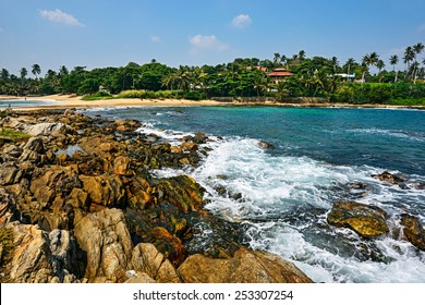 Ocean coast of Sri Lanka in the tropics