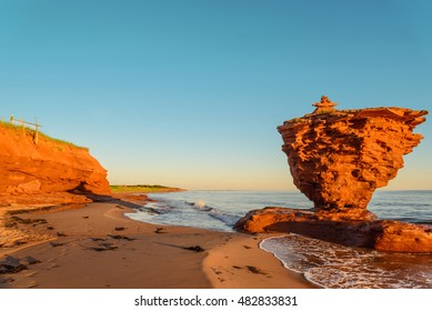 Ocean coast at the sunrise (Thunder Cove, Prince Edward Island, Canada)