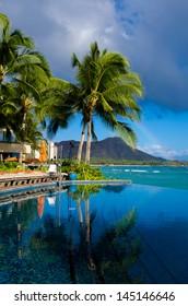Ocean and Diamond Head Hawaii