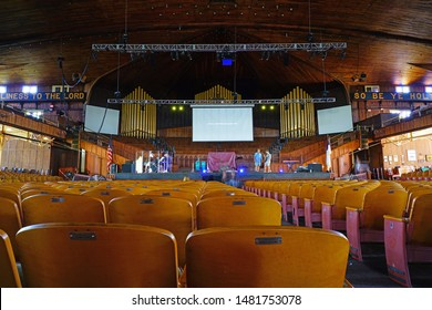 OCEAN GROVE, NJ -10 AUG 2019- View of the historic Victorian 1894 Methodist Auditorium in Ocean Grove, a town on the New Jersey Shore, known for its historic Victorian houses.