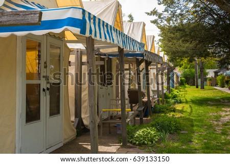 Ocean Grove NJ USA -- May 12 2017 -- Tent houses are & Ocean Grove NJ USA May 12 Stock Photo (Edit Now) 639133150 ...