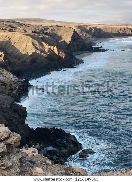 Ocean landscape in Europe
