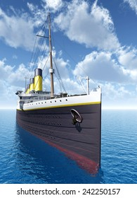 Ocean Liner Computer generated 3D illustration