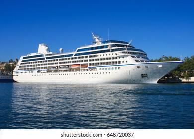 ocean liner at the dock