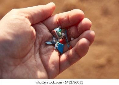 Ocean Microplastics found on beach
