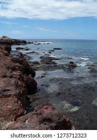 Ocean on the Hawaiian island of Lanai