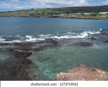 Ocean on island of Lanai, Hawaii, 2008