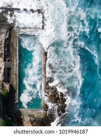 Ocean pool view from the sky