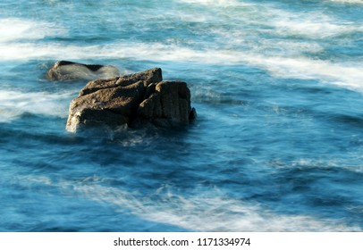 Ocean and rocks background
