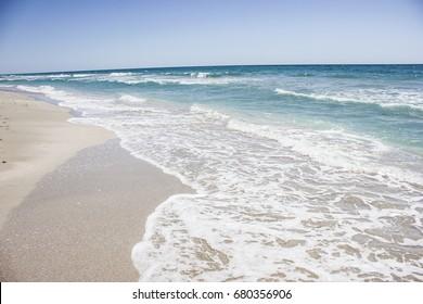 Ocean sea background nature  blue ocean travel background, tropical summer beach