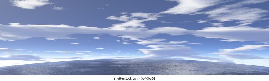 Ocean and  Sky