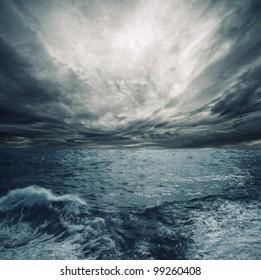 Ocean storm.