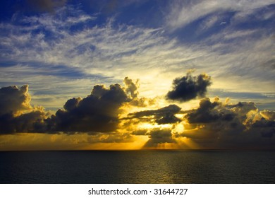 An ocean sunrise.