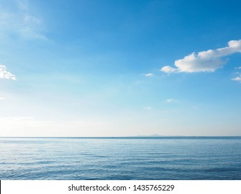 ocean sunrise, seascape,blue sky,Summer Sun Clean Air.