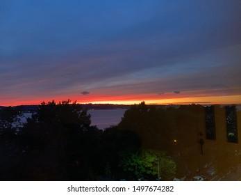 Ocean sunset in NYC, Bay Ridge