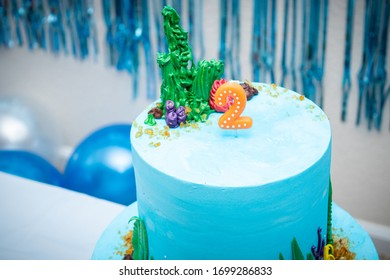 Marvelous Ocean Cake Images Stock Photos Vectors Shutterstock Funny Birthday Cards Online Aeocydamsfinfo