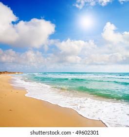 ocean and tropical beach