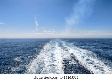 Ocean turbulence and waves of a ships wake,
