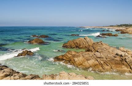 Ocean view along 17 mile drive in Monterey California.