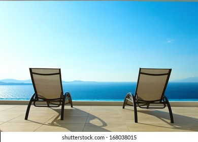 Ocean View with Deck Chairs