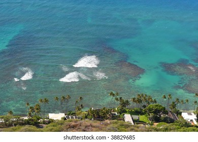 ocean view from Diamond Head Crater