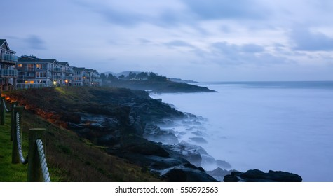 the ocean view from Worldmark at Depoe Bay, Oregon, USA. 939 NW Highway 101, Depoe Bay, OR 97341. Created December 3, 2016.