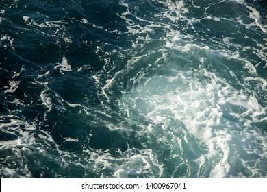 Ocean views. Blue water background